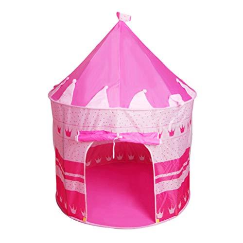 BESPORTBLE Kids Castle Play Carpa Prince Princess Castle Girls Casa de Juegos Grande para Niños de Interior Al Aire Libre (Rosa)
