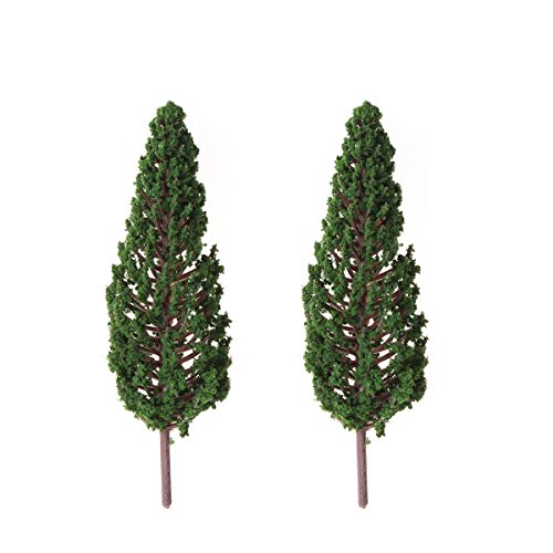 Winomo Lot de 10 arbres de jardin artificiels pour park Street (13 cm) Vert
