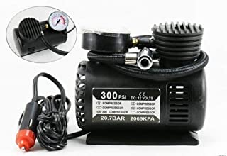 RUMPES Air Compressor for Car and Bike 12V 300 PSI Tyre Inflator Pump for Motorbikes & Car Bicycle,Football air Pump tubeless Tyres