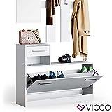 Vicco Flurgarderobe Set Billy weiß Garderobe Dielengarderobe Kompaktgarderobe (Weiß) - 7