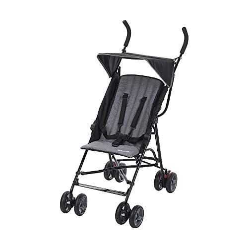 Safety 1st Buggy Flap, Leichter Kinderwagen mit Sonnendach, Relax-Position und Extra Polsterung (ab 6 Monate bis 15 kg), Black Chic (schwarz)