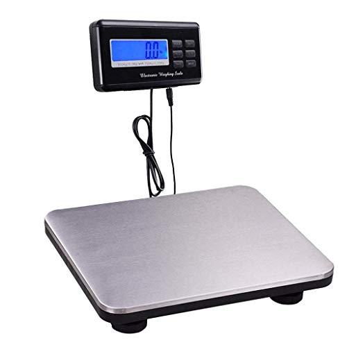 lqgpsx Double Precision 300Kg/150kg Large Platform Multi-Purpose Platform Postal Parcel Luggage Scales Digital, Shipping Parcel Scales (Color : Silver, Size : 36x30x6CM)