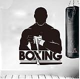 Lyhzxc Vinyl Kunst Wandtattoo Gym Fitness Boxer Sport