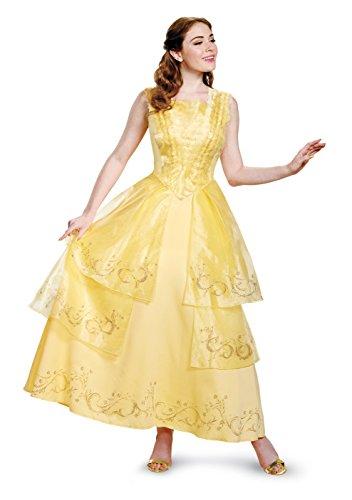 Disney Women's Plus Size Belle Ball Gown Prestige Adult Costume, Yellow, Medium