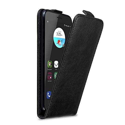 Cadorabo Hülle für ZTE Blade V7 in Nacht SCHWARZ - Handyhülle im Flip Design mit Magnetverschluss - Hülle Cover Schutzhülle Etui Tasche Book Klapp Style