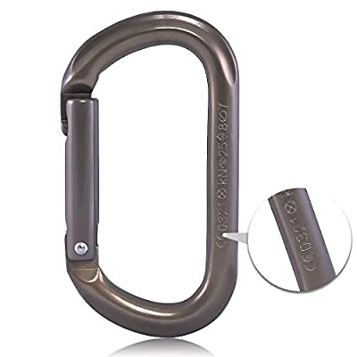 KAILAS CE Certified CE0321 Oval HCA Locking Carabiner Constructed for Rock Climbing Mountaineering and Rescure Alumimun Screw Lock Gate/Straight Gate with Major Axis Strength 25KN