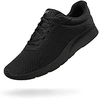 Men's Running Shoes Athletic Sneakers Casual Mesh Walking Shoes Lightweight Tennis Footwear for Men Comfortable Workout Trainer Breathable Road Running Sneakers Black Size: 8