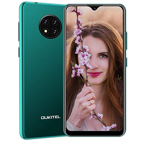 OUKITEL C19 (2020) Smartphone Ohne Vertrag Günstig, 4G LTE Android 10 Handy, 6,49 Zoll (16,48 cm) HD Display, 4000mAh Akku, 2GB RAM 16GB ROM 256GB Erweiterbar, 13MP Dreifachkameras Dual SIM (Grün)