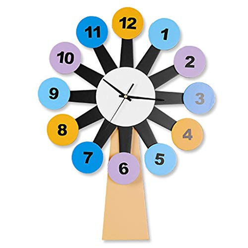 16-Zoll-Wanduhr, Moderne handgefertigte Holzstummschaltung Große Uhr zum Dekorieren des Kinderzimmers Wohnzimmer, W02