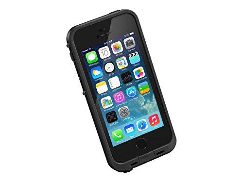 LifeProof FRE SERIES Waterproof Case for iPhone 5/5s/SE - Retail Packaging - BLACK (Renewed)
