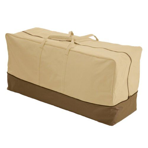 Classic Accessories Veranda Water-Resistant 45.5 Inch Patio Cushion and Cover Storage Bag
