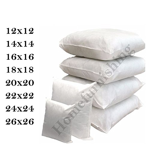 Homefurnishing 4 X Cushion Inners/Pads Size in 14' x 14' Inch with extra filling extra plumpy Made In UK (14 X 14)