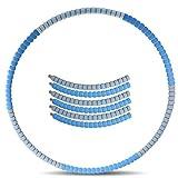 YQ&TL Hula Hoop Fitness Masaje de neumáticos, Hula Hoop Hula Hoops de Peso Ajustable para Adultos Fitness, Secciones de Hula Hoop Acolchadas con Espuma de 88 cm B