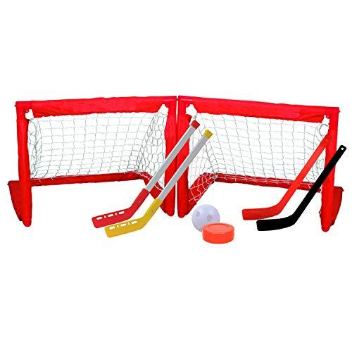 Kingdom GB 2-in-1 Mini-Streehockey und Kniehockey für Kinder, zusammenklappbares Tor-Set