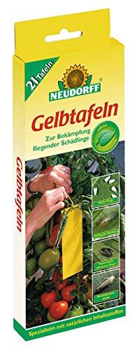 Neudorff Gelbtafeln (kleinformatig) 21 Stück, Insektenfänger, Insektenschutz
