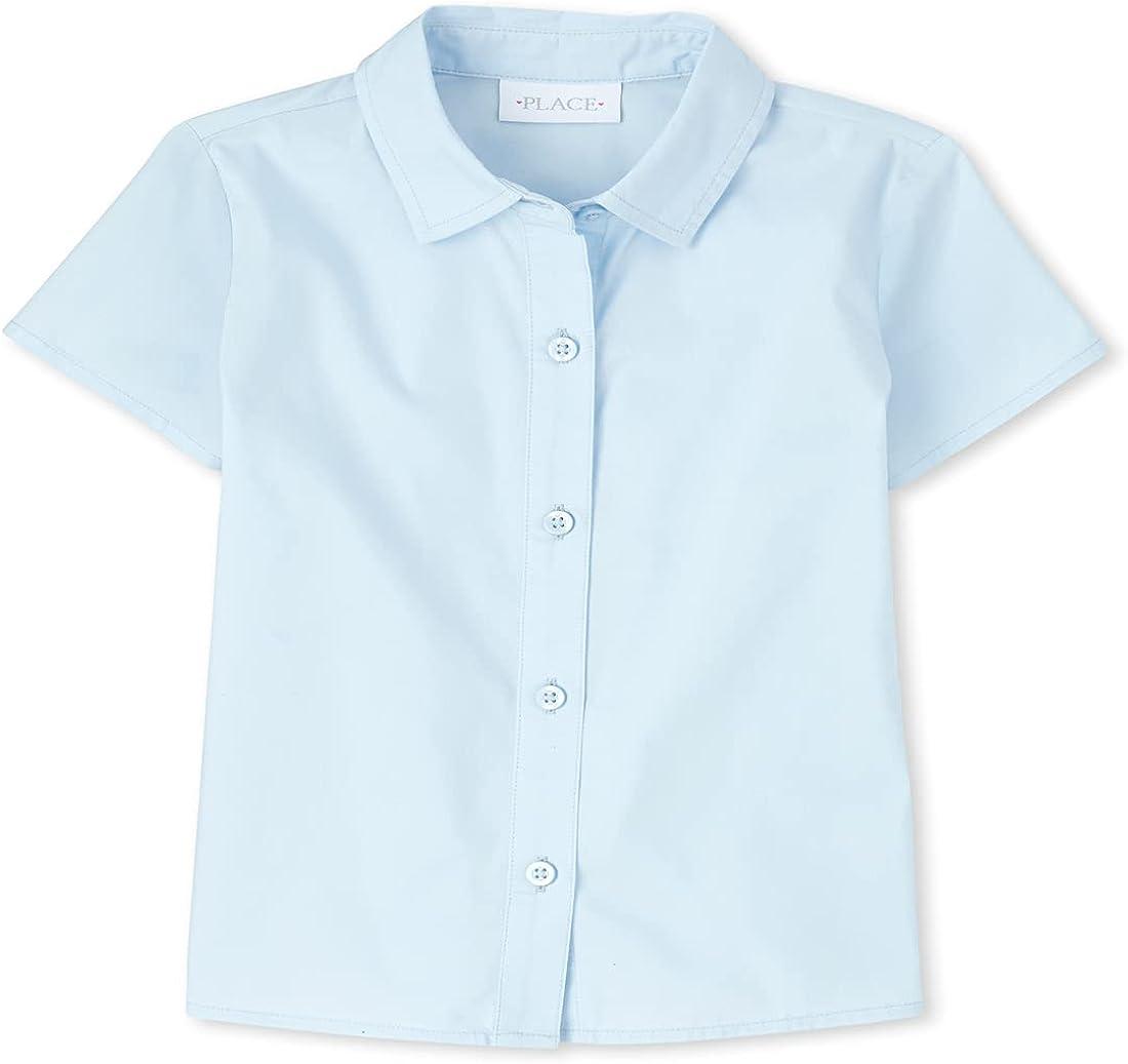 The Children's Place Girls' Uniform Poplin Button Down Shirt