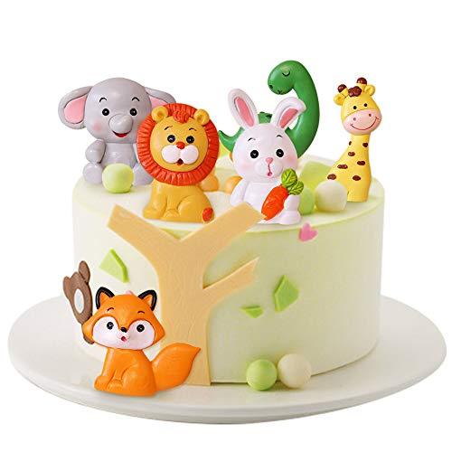 Decorazioni Torta Compleanno CHEPL 6 Pezzi Animale Cake Topper Cake Figurine Decorazione Torta di Compleanno Ornamenti, per Torta Artigianale Casa Matrimonio Festa