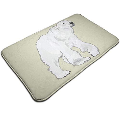 D-M-L 40X60CM Bath Mat Flannel Non Slip Bath Rug Carpet Door Mat Floor Mat Polar Bear