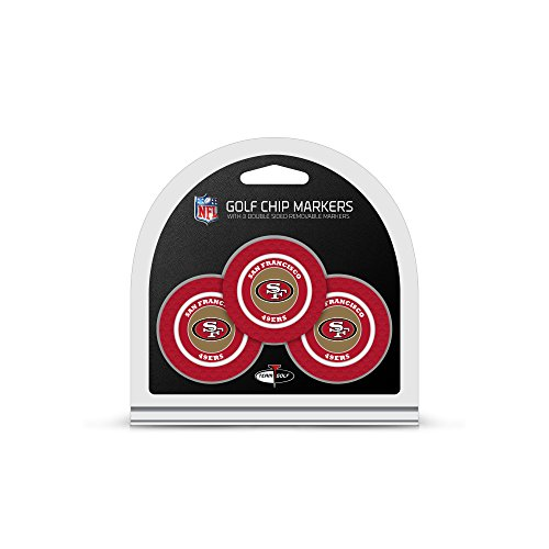 Review Of Team Golf NFL San Francisco 49ers Golf Chip Ball Markers (3 Count), Poker Chip Size with P...