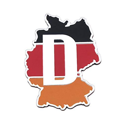 WINOMO Deutschland Flagge Karte Form Auto Aufkleber Emblem Abzeichen Aufkleber Auto Aufkleber Dekoration