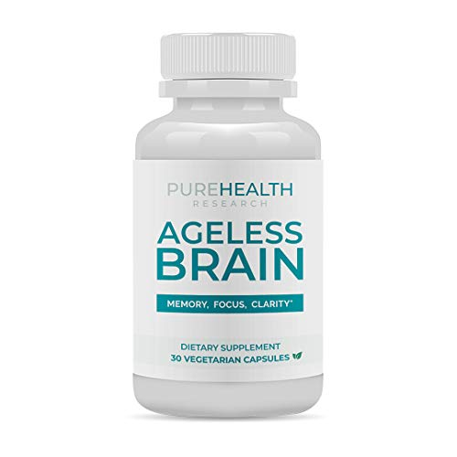 Ageless Brain by PureHealth Research - Memory, Focus & Clarity. Doctor Formulated, Brain Supplement for Healthier Brain, Sharper Mind & Clearer Thinking - 30 Capsules