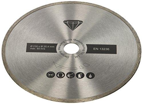 Scheppach 7906700704 Zubehör/Diamanttrennscheibe, passend für den FS4700 Fliesenschneider, schneidet Fliesen, Marmor, Durchmesser 230 x 2,4 mm