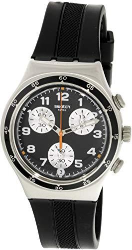 Swatch Apres Vous YCS598 Reloj de cuarzo suizo de silicona plateada