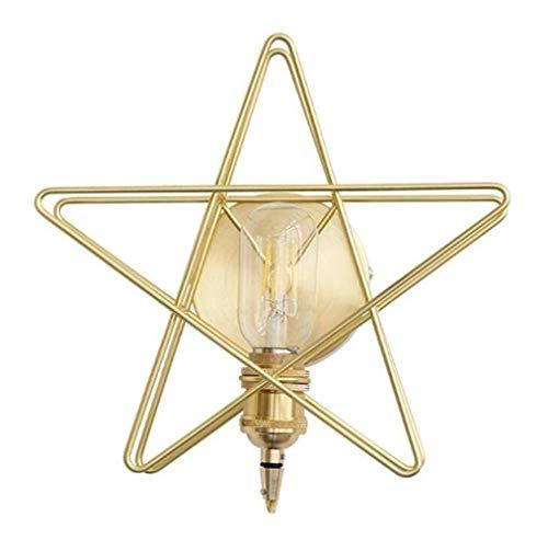 DKEE Luz Moderna De Pared Creativo Estrella De Cinco Puntas De Metal Lámpara De Pared For Sala De Estar Cama Dormitorio Pasillo Principal, De Oro, A Luces de Pared