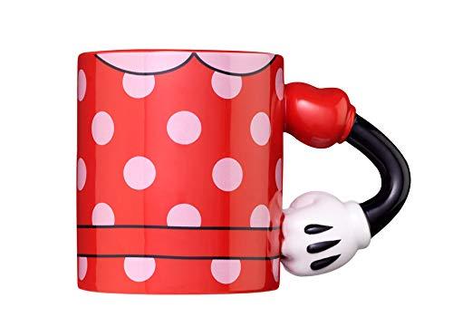 Exquisite Gaming Taza Minnie Mouse Meta Merch café y té, 12 Ounces, Cerámica, Rojo, blanco