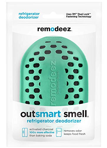 remodeez Refrigerator Deodorizer, Odor Absorber and Eliminator, Natural Coconut Activated Charcoal, Light Green