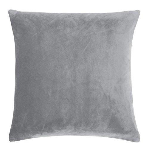pad - Kissen, Kissenhülle, Zierkissen - Smooth - Farbe: Light Grey, Hellgrau - 50 x 50 cm - kuschelig Weich