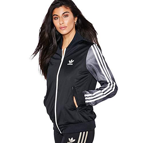 adidas Damen Sweatshirt M Moon Sgirl TT, Schwarz/Weiß/Grau 38 Negro/Blanco/Gris