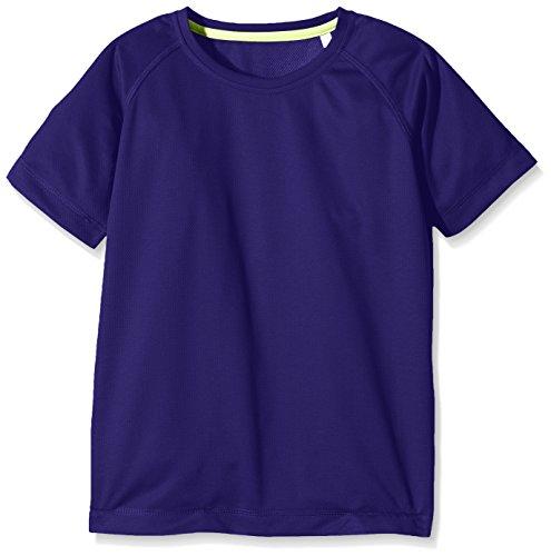 Stedman Apparel Jungen Sport Top Active 140 Raglan/ST8570, Violett (Deep Lilac 313), 7-8 Jahre (Herstellergröße: Small)