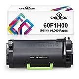 CHENPHON Remanufactured Lexmark 60F1H00 601H Toner Cartridge Replacement for Lexmark MX310dn MX410de MX511de MX310 MX410 MX510 MX511 MX610 MX611 Printer Toner, High Yield 10,000 Pages, Black 1-Pack