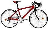 Bicicletta Ibrida da Uomo 24' 14V Denver Bike Corsa Rossa