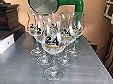 Lote de 6 vasos de cerveza con 24 lúpulos de Flandres (25 cl, 33 cl)
