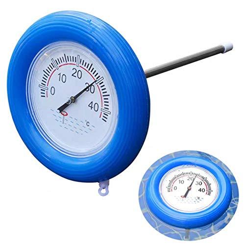 TOMATION Schwimmbadthermometer Schwimmbadthermometer mit großem Zifferblatt Poolthermometer mit Schnur für Außen- und Innenschwimmbäder Spas Whirlpools Whirlpools Aquarien Fischteiche