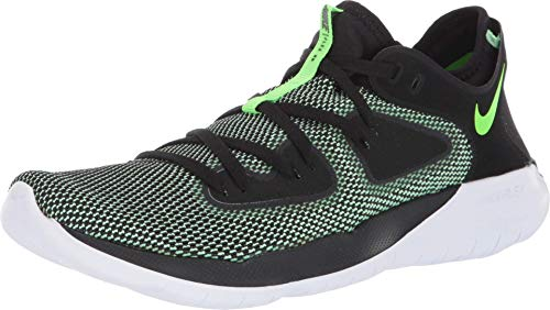 Nike Men's Flex RN 2019 Running Shoe (10.5, Black/Electric Green/Vapor Green/White)