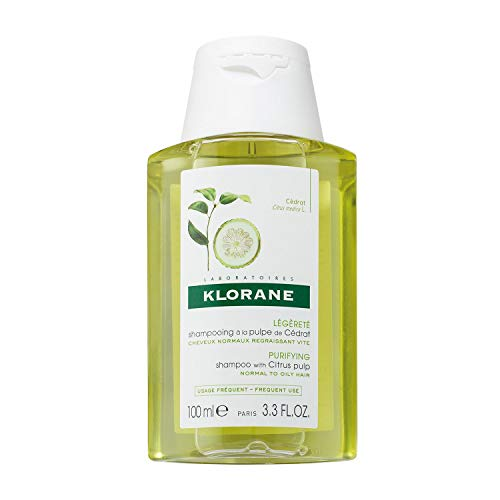 Klorane - Champú a la pulpa de cedro para uso frecuente, 100ml
