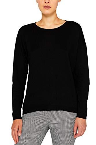 edc by ESPRIT Damen 079Cc1I006 Pullover, Schwarz (Black 001), Small (Herstellergröße: S)