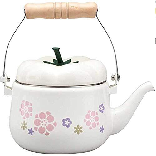 Teekanne Teeservice Emaille Teekanne Wasserkocher Wasserkocher 1 5L Multifunktions-Gießkanne für weiße Tomaten Dusche Gartenarbeit Haushaltsgroße Emaille Blumentopf Gießkanne