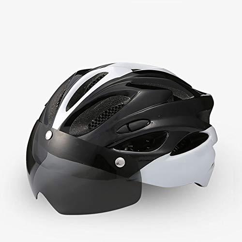 JINHU Casco De Bicicleta De Montaña, Ajustable Y Ligero Equipo De Ciclismo con Diseño Aerodinámico Proporcionar Seguridad Cabeza Adecuado para Patineta Balance Car Casco De Bicicleta (C)