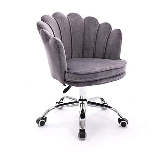Silla de escritorio ergonómica, silla de oficina en casa, silla giratoria para computadora ajustable en altura, cuero artificial de pu, adecuada para oficina, estudio, sala de estar, salón y dormito