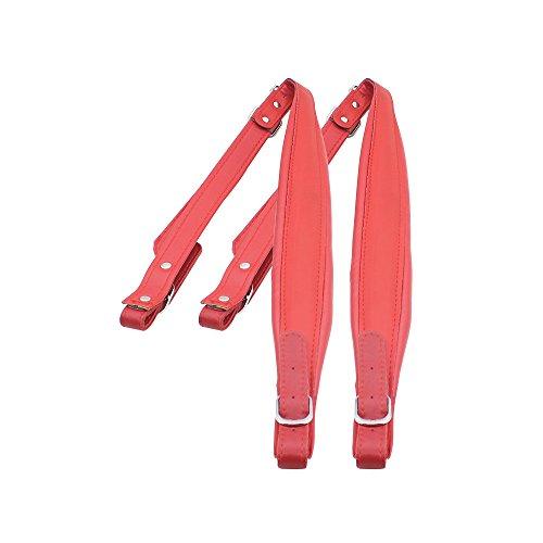 ammoon Una Coppia Cinghie per Fisarmonica Regolabile in pelle sintetica spalla per 16-120 Bassi Fisarmoniche