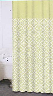 Waverly Buzzing About Green//White Dragonflies Fabric Shower Curtain 70x72