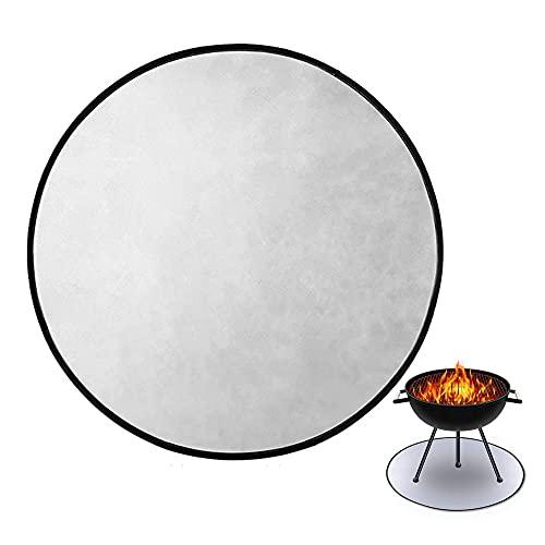 Aufworld Feuerschalenmatte, 91,4 cm, runde Feuerstelle, hohe Temperatur, Matte unter dem Grill, feuerfeste Unterlage mit feuerhemmendem Material für BBQ Solo Lagerfeuer