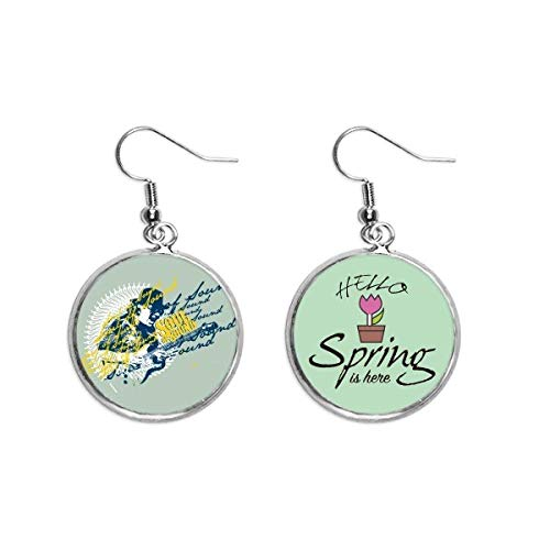 Graffiti Street Music Guitar Soul of Sound Decoration Dangle Season Spring Earring Jewelry