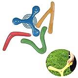 XHXseller 4PCS / Set Boomerang Toy Gift para niños Funny Playing Regresando Deportes al Aire Libre para Atletas, para Juegos Deportivos de Juguete para Principiantes