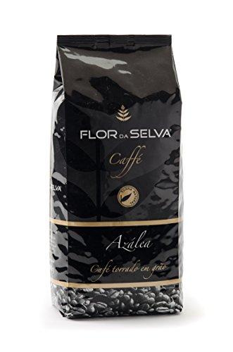 FLOR DA SELVA Caffé Azàlea ganze Bohne, 1 x 1kg, Gourmetkaffee aus Lissabon, traditionell mit Holz geröstet, ohne Konservierungsstoffe
