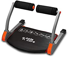 SoleCore Ab Cruncher Red/Black Smart Fitness, Equipment Portable and Compact, Cardio and Muscle Toning